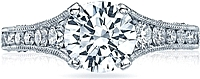 Tacori Channel Set & Pave Diamond Engagement Ring