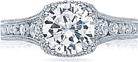 Tacori Channel-Set & Pave Round Diamond Engagement Ring