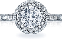 Tacori Channel Set Diamond Halo Engagement Ring
