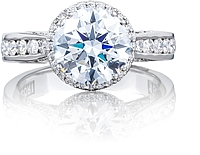 Tacori Channel-Set Engagement Ring w/ Round Bloom