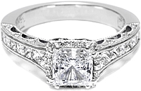 Tacori Channel Set Princess Cut Diamond Engagement Ring