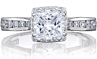 Tacori Channel-Set Princess Cut Engagement Ring w/ Bloom