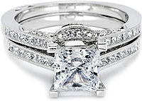 Tacori Contoured Channel-Set Princess Cut Diamond Band