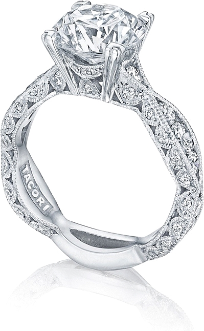 Tacori Wedding Sets | Tacori Criss Cross Channel Set Pave Diamond Engagement Ring 2644rd934