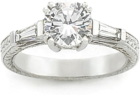 Tacori Diamond Baguette Engagement Ring