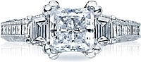 Tacori Diamond Engagement Ring for an Asscher or Princess Cut