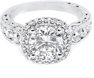 tacori double cushion halo diamond engagement ring ht2521cu