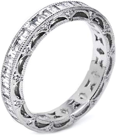 Tacori Emerald Cut Diamond Wedding Band HT2531B