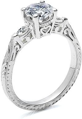 Tacori Engagement Ring W Marquise Side Diamonds Ht2198