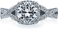 Tacori Engagement Ring with Pave-Set Diamonds