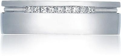 Engraved Wedding Band on Tacori   Tacori Engraved And Pave Diamond Wedding Band  6 5mm