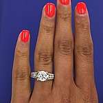 This image shows the setting with a 2.25ct round cut center diamond.