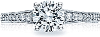 Tacori Graduated Pave Diamond Engagement Ring