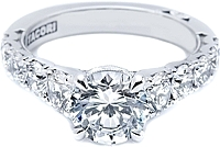 Tacori Graduated Round Brilliant Cut Diamond Engagement Ring