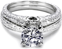 tacori hand engraved fitted wedding band - Tacori Wedding Ring