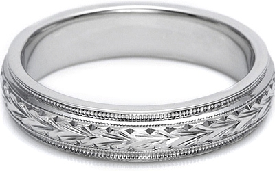 Tacori Hand Engraved Mens Wedding Band 50mm GU86E