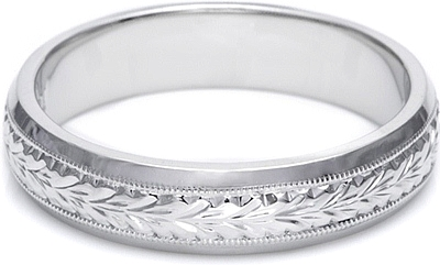 Tacori HandEngraved Mens Wedding Band 50mm GU92