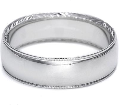 Tacori HandEngraved Mens Wedding Band 65mm 2558