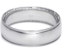 Tacori Hand-Engraved Mens Wedding Band -6.5mm