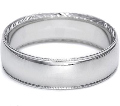 Tacori hand engraved mens wedding band 65mm 2558 for Tacori mens wedding rings