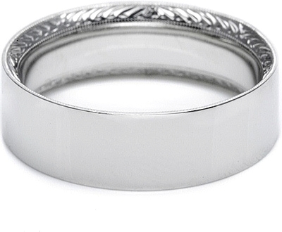 Tacori Hand Engraved Mens Wedding Band 70mm 2555