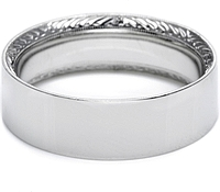 Tacori Hand-Engraved Mens Wedding Band -7.0mm