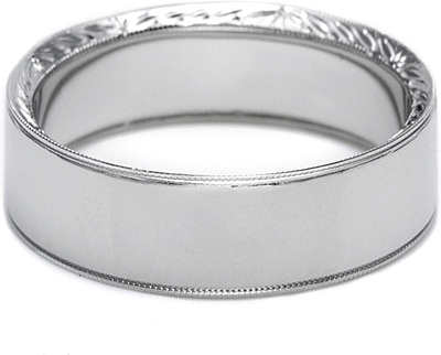 Tacori Hand Engraved Mens Wedding Band 70mm 2557