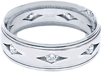 Tacori Men's Diamond Wedding Band 7.0mm