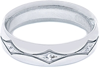 Tacori Men's Engraved Wedding Band 6.0mm