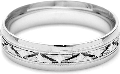 Tacori Mens Wedding Band 55mm HT2400