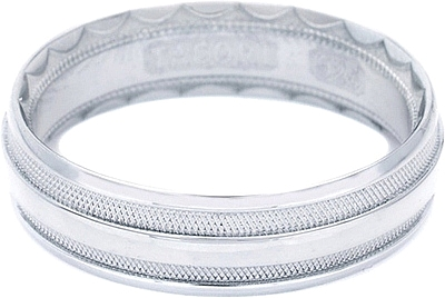 Tacori Mens Wedding Band With Crescent Design 60mm 766W