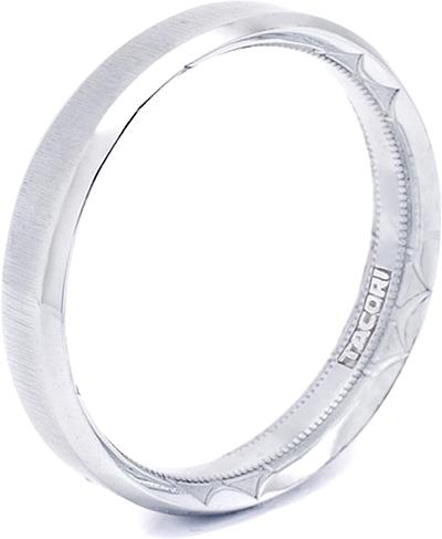Tacori mens wedding band with satin finish 50mm 635s for Tacori mens wedding rings