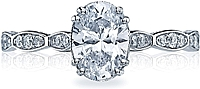 Tacori Oval Pave Diamond Engagement Ring