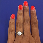 This image shows the setting with a 1.50ct round cut center diamond.