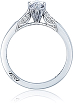 This image shows the setting with a 1.00ct marquise cut center diamond. The setting can be ordered to accommodate any shape/size diamond listed in the setting details section below.