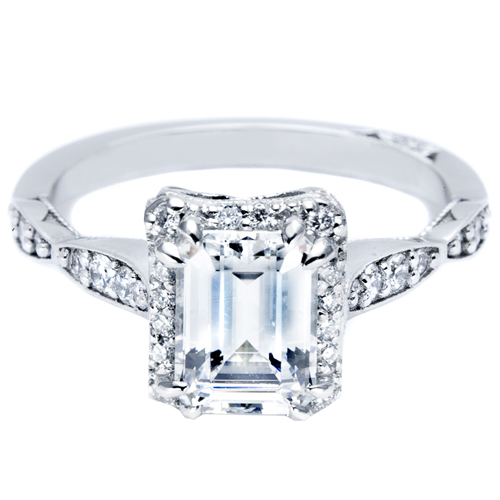 Tacori Pave Diamond Engagement Ring 39 2EC