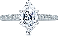 Tacori Pave Marquise Diamond Engagement Ring