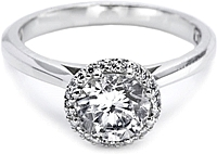 Tacori Pave-Set Diamond Engagement Ring