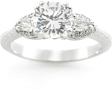 tacori pear shape diamond engagement ring 0 reviews write a review this image shows the setting with a 125ct round brilliant cut center diamond the - Pear Shaped Wedding Ring