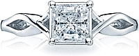 Tacori Princess Cut Criss Cross Solitaire Engagement Ring