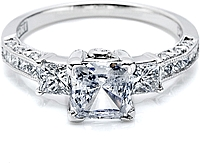 Tacori Princess Cut Diamond Engagement Ring