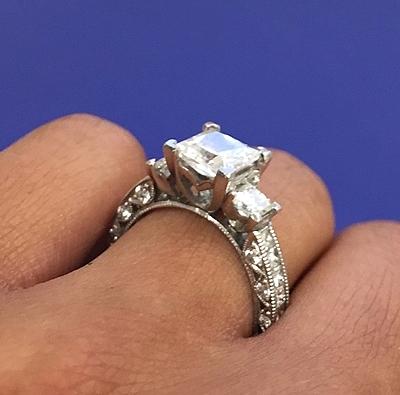 Tacori Princess Cut Diamond Engagement Ring Ht2430