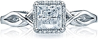 Tacori Princess Cut Halo Twist Diamond Engagement Ring