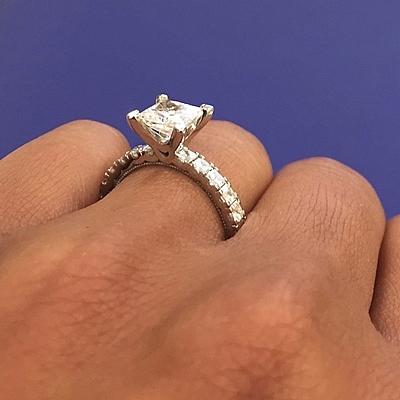 tacori prong set engagement ring w asscher cut