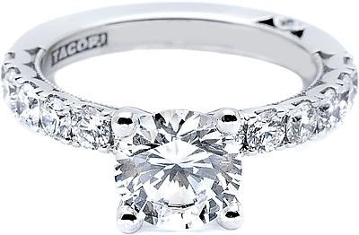 Tacori ProngSet Round Brilliant Diamond Engagement Ring 333RD
