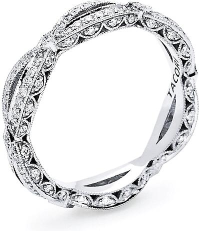 Tacori Ribbon Twist Pave Diamond Band HT2528B