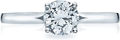 This image shows the setting with a .80ct round cut center diamond. The setting can be ordered to accommodate any shape/size diamond listed in the setting details section below.