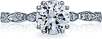 Tacori Round Brilliant Pave Diamond Engagement Ring