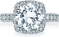 Tacori RoyalT Cushion Halo Diamond Engagement Ring