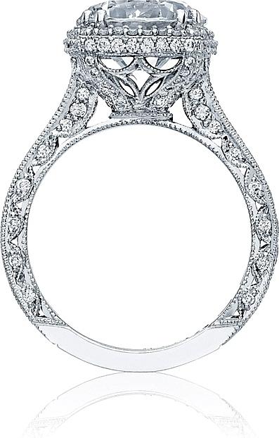 tacori royalt cushion halo diamond engagement ring ht2607rd